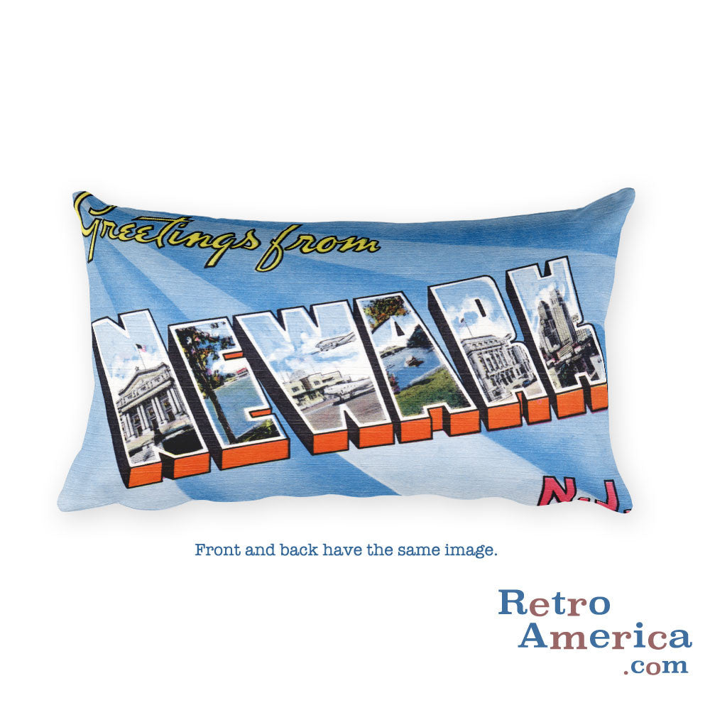 Greetings from Newark New Jersey Throw Pillow 1