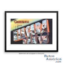 Greetings from Niagara Falls New York NY 2 Postcard Framed Wall Art