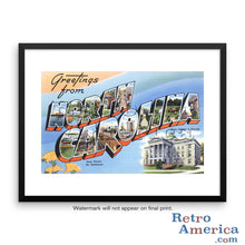 Greetings from North Carolina NC 1 Postcard Framed Wall Art