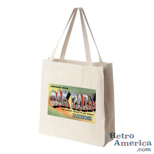 Greetings from Oak Park Illinois IL Postcard Tote Bag