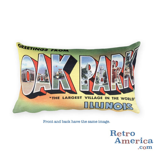 Greetings from Oak Park Illinois Throw Pillow