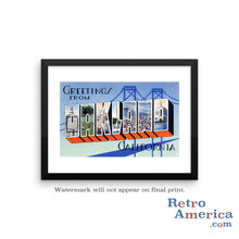 Greetings from Oakland California CA 1 Postcard Framed Wall Art