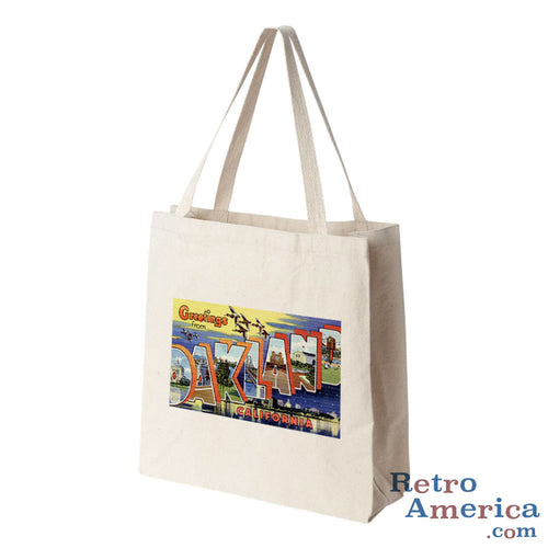 Greetings from Oakland California CA 2 Postcard Tote Bag