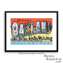 Greetings from Oakland California CA 3 Postcard Framed Wall Art