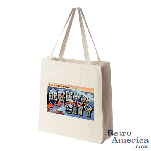 Greetings from Ocean City Maryland Md Postcard Tote Bag
