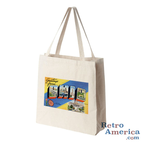 Greetings from Ohio OH 1 Postcard Tote Bag