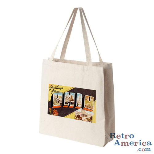 Greetings from Ohio OH 3 Postcard Tote Bag