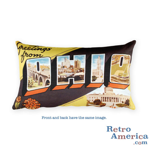 Greetings from Ohio Throw Pillow 3