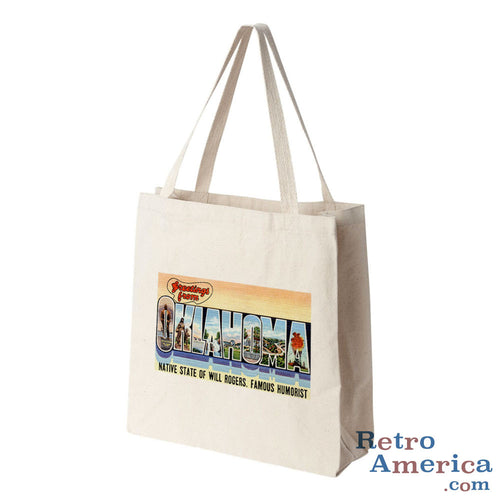Greetings from Oklahoma OK 2 Postcard Tote Bag