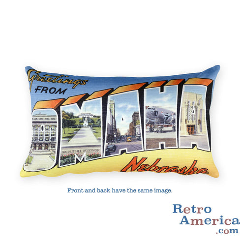 Greetings from Omaha Nebraska Throw Pillow 2