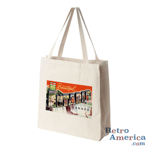 Greetings from Ontario Canada Canada Postcard Tote Bag