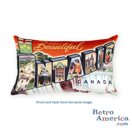 Greetings from Ontario Canada Throw Pillow
