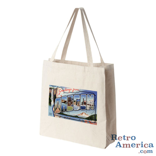Greetings from Oregon OR 2 Postcard Tote Bag