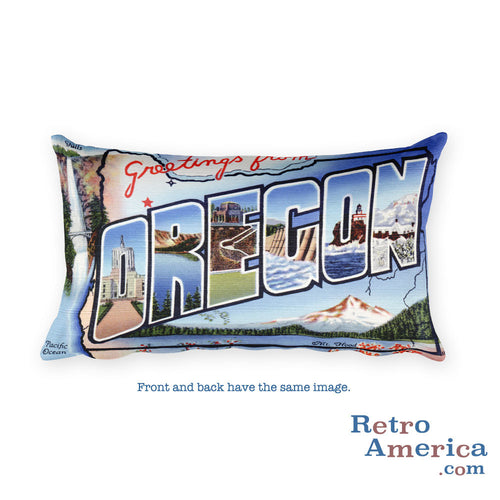 Greetings from Oregon Throw Pillow 2