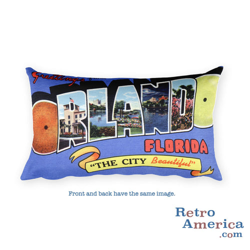 Greetings from Orlando Florida Throw Pillow