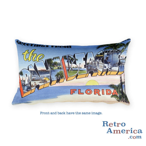Greetings from Palm Beaches Florida Throw Pillow