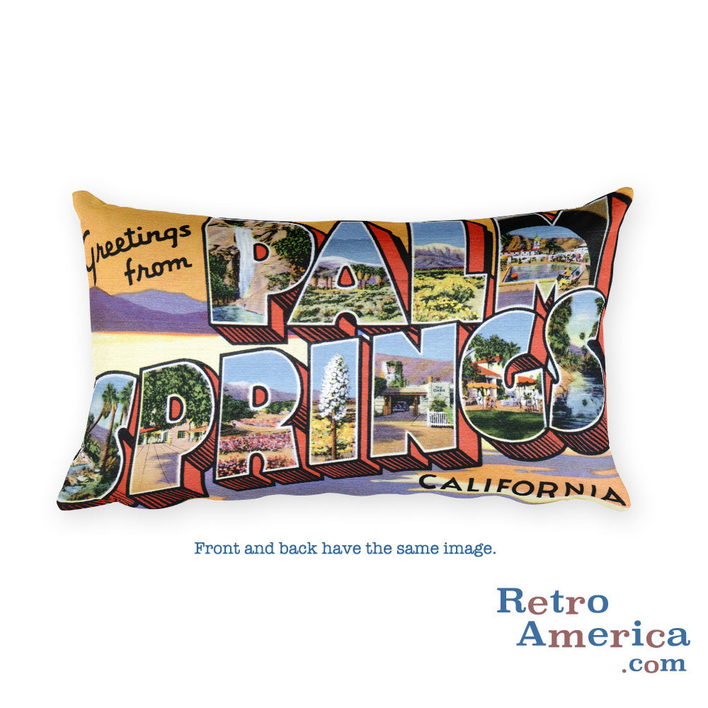 Greetings from Palm Springs California Throw Pillow