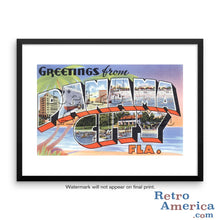 Greetings from Panama City Florida FL Postcard Framed Wall Art