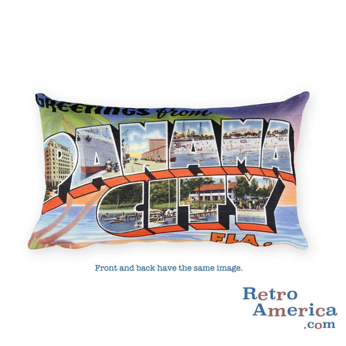 Greetings from Panama City Florida Throw Pillow