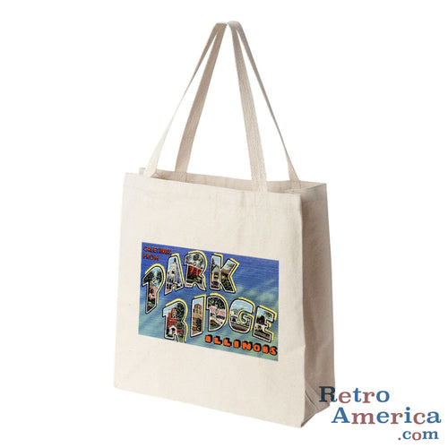 Greetings from Park Ridge Illinois IL Postcard Tote Bag
