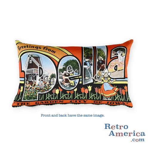 Greetings from Pella Iowa Throw Pillow