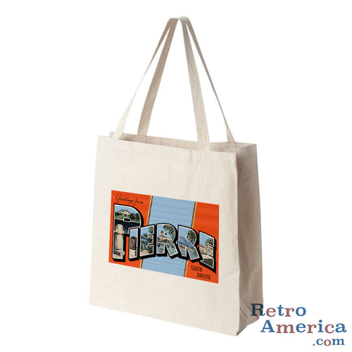 Greetings from Pierre South Dakota SD Postcard Tote Bag