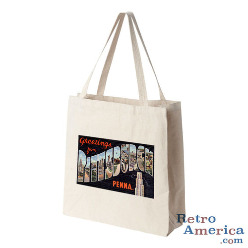 Greetings from Pittsburgh Pennsylvania PA 1 Postcard Tote Bag