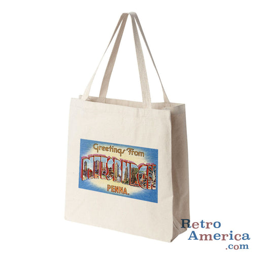 Greetings from Pittsburgh Pennsylvania PA 2 Postcard Tote Bag