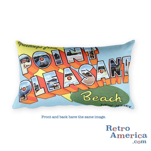 Greetings from Point Pleasant New Jersey Throw Pillow