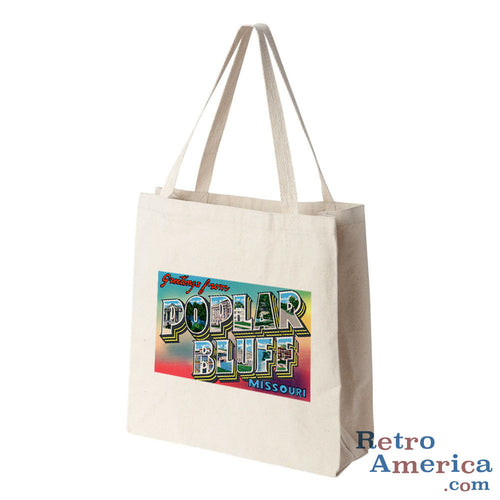 Greetings from Poplar Bluffs Missouri MO Postcard Tote Bag