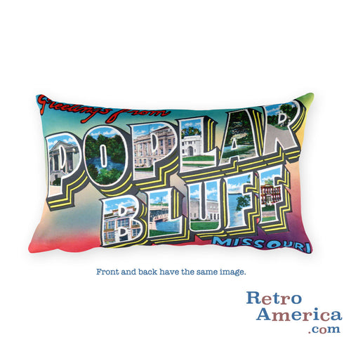 Greetings from Poplar Bluffs Missouri Throw Pillow