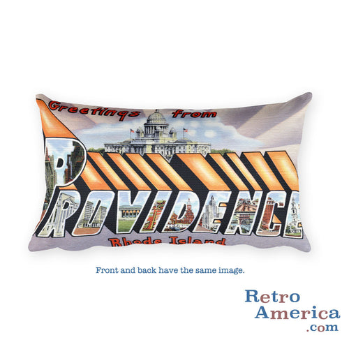 Greetings from Providence Rhode Island Throw Pillow 1