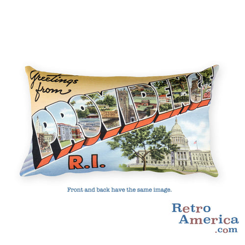 Greetings from Providence Rhode Island Throw Pillow 2