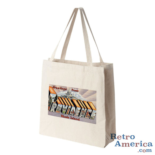 Greetings from Providence Rhode Island RI 1 Postcard Tote Bag