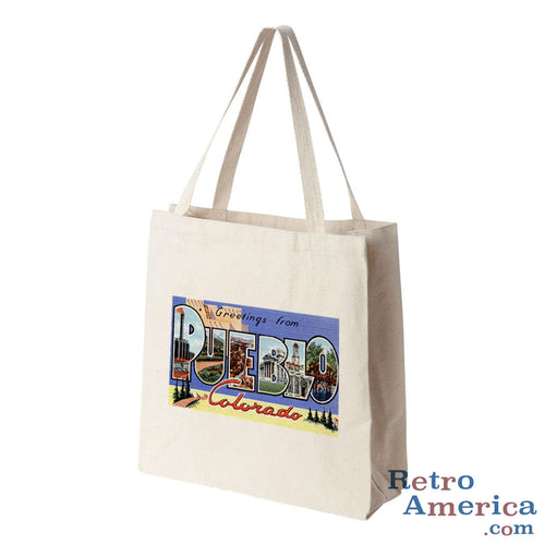 Greetings from Pueblo Colorado CO Postcard Tote Bag