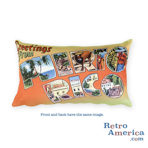 Greetings from puerto rico retroamerica greetings from puerto rico throw pillow m4hsunfo