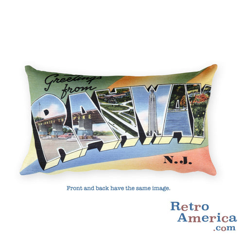 Greetings from Rahway New Jersey Throw Pillow
