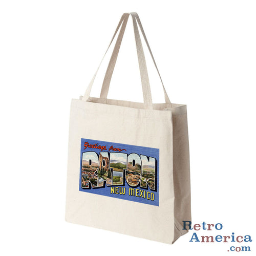 Greetings from Raton New Mexico NM Postcard Tote Bag