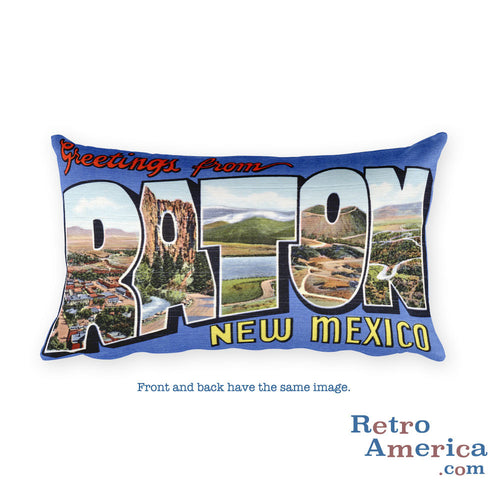 Greetings from Raton New Mexico Throw Pillow
