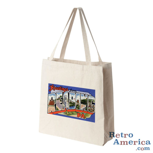 Greetings from Reading Pennsylvania PA 1 Postcard Tote Bag