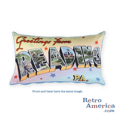 Greetings from Reading Pennsylvania Throw Pillow