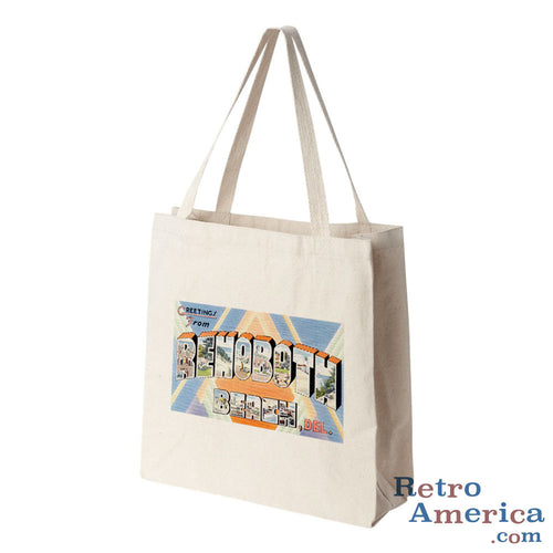 Greetings from Rehoboth Beach Delaware DE Postcard Tote Bag