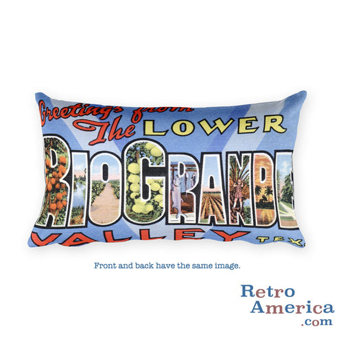 Greetings from Rio Grande Texas Throw Pillow