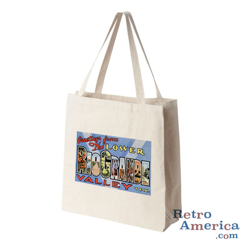 Greetings from Rio Grande Texas TX Postcard Tote Bag