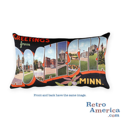 Greetings from Rochester Minnesota Throw Pillow 1