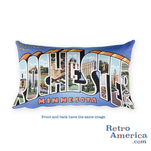 Greetings from Rochester Minnesota Throw Pillow 2