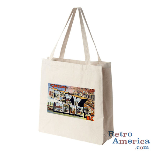 Greetings from Rocky Mount North Carolina NC Postcard Tote Bag