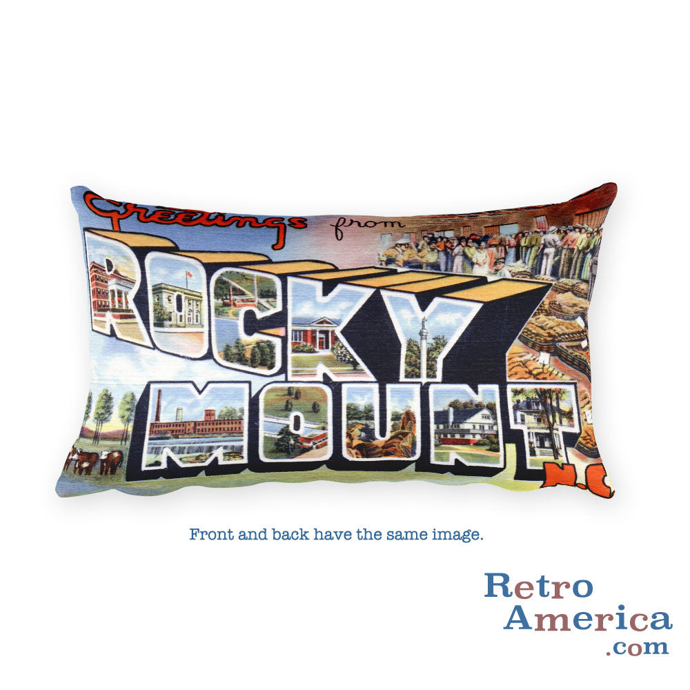 Greetings from Rocky Mount North Carolina Throw Pillow