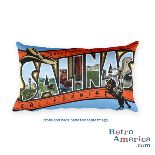 Greetings from Salinas California Throw Pillow