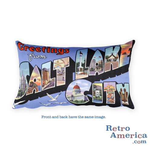 Greetings from Salt Lake City Utah Throw Pillow 2